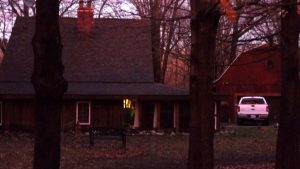 the house as night falls