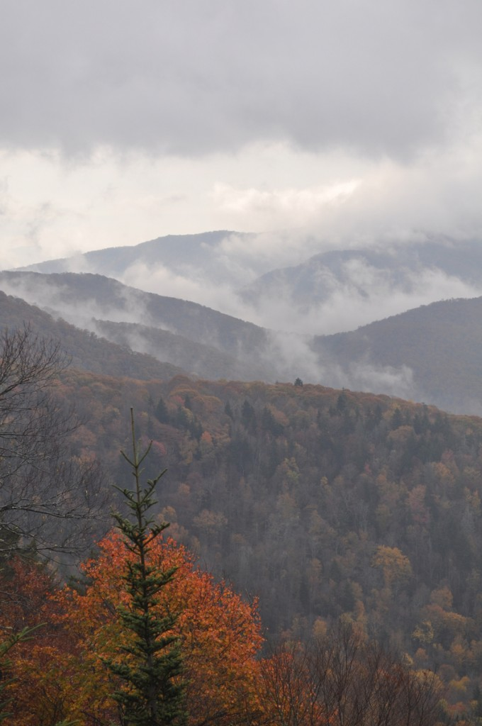 Clouds on the Blue Ridge Parkway by Jenny Munro