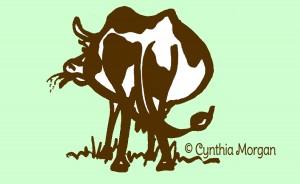 gracing standing cow